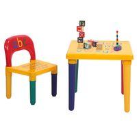 Waco Toddler Kids Alphabet Table et chaise Ensemble, Mobilier d'activité en plastique pour tout-petit, étudie Play Arts Dining Bureau pour bébé Garçon
