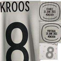 American College Football 2021 Jogador desgastado Edição Kroos Muller Sane Havertz Kimmich Futebol Patch com Vs MatchDetails Tuta da Calcio