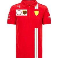 T-shirt F1 Fans Fans Racing Costume Zipper Revers Polo Coffre Team Équipe à manches courtes Séchage rapide Vélo à vélo Vêtements Personnalisation des vêtements