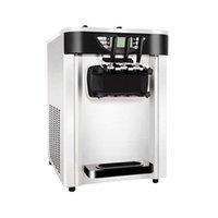 Desktop Soft sorvete fabricante 220V 110V o painel de toque três sabores sorvete fazendo máquina