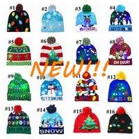 Новый!!! 16 Стиль Светодиод Рождество Хэллоуин вязаные Шляпы Детские Детские Мамы Зимние Теплые Шапочки Тыквенные Снеговики Крючком Крышки DHL Tiktok CY23