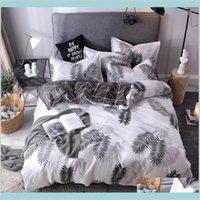 الصلبة لون الفراش مجموعة القطن الرملي مزدوجة الإملائي 4PCS مجموعات سرير أغطية أغطية لحاف غطاء ورقة سادة مريحة أغطية Y6PIW QE375