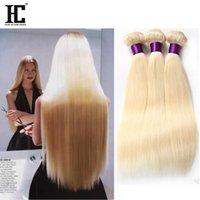 Top Malesian Virgin Hair Dritto Bionda 613 morbida malese cucire in estensioni dei capelli 3 Bundles Setky Human Human Hair Weave