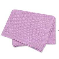 طفل رضيع الصلبة منشفة البطانيات الوليد الخيزران الألياف ايوسل الحياكة المناشف الرضع قماء الشاش سماط الأغطية مربع بطانية owe8100