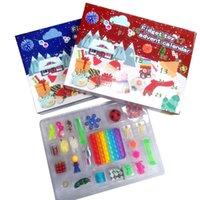 Ny! Fidget Leksaker Christmas Blind Box Favorithållare 24 dagar Advent Kalender Kneading Musik Presentförpackningar Nedräkning 2021 Barnens gåvor DHL