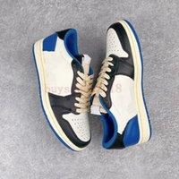 2021 Fragment 1 High OG SP SP Bas Basketball Chaussures Militaire Blue Ts Noir Voile Timide Rose Hommes Femmes Sneaker Sneaker Formateurs en plein air avec boîte