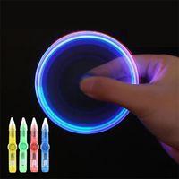 2021 toy Led Light Toys Fidget Light spinning pen fingertip gyro creative students decompression toys wholesale