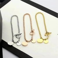 Beaded Bracelets for Women Type O Charm love heart Bracelets Stainless Steel Titanium Steels Lady Jewelry Girlfriend Gifts Three colors available