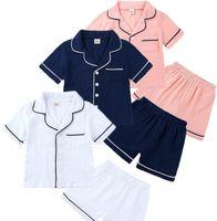 Vêtements de bébé Pajamas Été Garçons Vêtements Tshirt Ensembles courts Enfants Summer Girls Pajamas Princess luxe Designer de luxe Ensemble de vêtement de nuit CZ702
