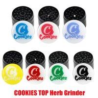 뜨거운 쿠키 탑 인쇄 그라인더 50mm 담배 슬라이서 4 레이어 허브 크러셔 다채로운 그라인더 손 멀 러 흡연 액세서리