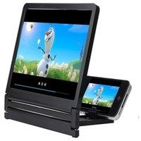 Supporti del telefono cellulare Supporti Est Mobile Screen Schermo Magnifier Eyes Protezione Display 3D Video Pieghevole Ingrandimento espansore