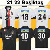 21 22 Besiktas Batshuayi Mens Soccer Jerseys Salih Ucan Ogan Oguzhan Ghezzal Vida Karaman Ersin Home White Away Black Football Camicia manica corta