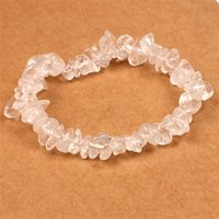 Natürliche Heilung Kristall Armband Sodalit Chip Edelstein 18 cm Stretch Armband Naturstein Luxus Designer Schmuck Frauen Armbänder309 T2