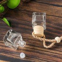 Caroline de parfum de voiture Pendentif Pendentif de voiture Perfumez-vous d'ornement d'ornement pour huiles essentielles Diffuseur parfum de bouteille de verre vide One 638 S2