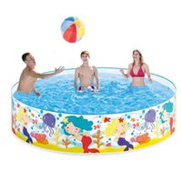 Pool & Accessories 183*38cm Free Inflatable Tarpaulin Support Round No Air Pump Baby Hard Plastic Children Bath Swimming