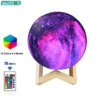 3D Mondlampe LED Nachtlicht Galaxie USB-Stern Ball Print Schreibtisch Lichter Home Dekoration Geburtstag Kreative Geschenk Dropshipping