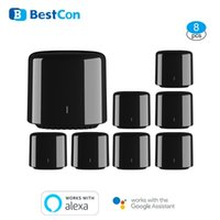Smart Home Control 8 PCS Lot Broadlink RM4C Mini Con WiFi IR Remote Controller Automation Modules Compatible With Alexa Google