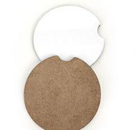 Сублимационные деревянные MDF Blank Car Coasters Hot Transfer Price Coasters с пробкой и нескользящей GWB5441