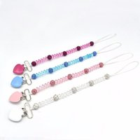 Pacifiers# Born Crystal Pacifier Chain Holder Baby Anti-lost Clip Products Arrivals Dummy Feeding