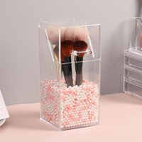 Eyebrow Tools & Stencils Portable Makeup Storage Box Organizers Transparent Plastic Nails Beauty Cosmetic Organizer For Dresser Table