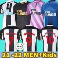 21 22 Newcastle United Soccer Jersey 2021 2022 Maximin Shelvey Joelinton Wilson Fraser Nufc camiseta Almiron Ritchie Gayle Longstaff Men's T-Shirt Kit Kits