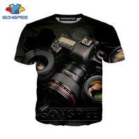Homens t - shirts Impressão 3D engraçado Câmera ocasional Punk T Camisa de filme Streetwear Homens Mulheres da praia T-shirt da forma de Harajuku Camisetas O Pullover do pescoço TSH
