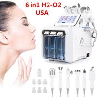 6 in1 h2-o2 hydro dermabrasion rf Био-подъемный спа-салфетки для защиты от щита для лица Pore Cleaner Hydro Microdermabrasion Станок для ухода за кожей