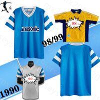 1998 1990 91 Olym Marseil Casa Away Retro Soccer Jersey Eric Cantona Jean-Pierre Papin Abedi Pele 98 99 90 91 Le classiche Camicia da calcio