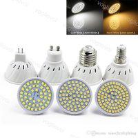 LED Ampul ABS SMD2835 48 60 80LEDS E27 E14 MR16 GU10 Lamba 110 V 220 V Sıcak Beyaz LED Lamba Spot Işık Eub