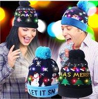 LED Light Up Hat Beanie Knit Colorful Lights Xmas Unisex Winter Snow Cap