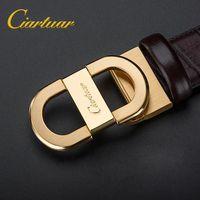 2019 Ciartuar الرسمي متجر فاخر جديد أزياء مصمم الرجال حزام جودة عالية جلد طبيعي cowskin لسراويل شحن مجاني Q190417