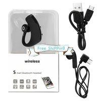 Сток V9 Bluetooth Earbuds Handfree Wireless Wireles Wirepherhone BT4.1 CSR Control Control Бизнес-гарнитура с микрофоном для смартфона с коробкой