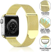 Top Luxury Stainless steel magnetic strap Gift Watchbands For Apple Watch Band 42mm 38mm 40mm 44mm 41mm iwatch 1 2 3 4 5 6 SE 7 bands Stripes watchband