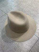 Wide Brim Hats 202109-shi Winter Preheating Welfare Style ,100% Wool So Er Classic Naked Color Fedoras Cap Men Women Panama Jazz Hat