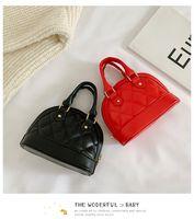 Kleines Mädchen Shell Tasche Mode Kinderkette Messenger Bag Kinder Diamant Pu-Leder Handtasche Nettes Baby Eine Umhängetasche C6917