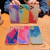 Bling Glitzer-Kamera-Linsenschutz-Telefonkasten für iPhone 12 Mini 12 11 PRO MAX XS XR XS MAX 7 8 Plus-Cover