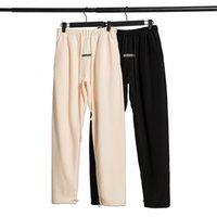Дизайнерские Женщины Свободные Брюки Европейского и американского тумана High Street Двойная дорожка Усадочная широкогада Полярная Флисовая Брюки Страх Божьи Основы Повседневные модные штаны
