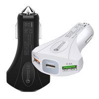 Chargeur rapide 3.0 type C chargeur de voiture Adaptateur 18W QC3.0 Charge rapide 3 Chargeur de téléphone portable de voiture USB pour iPhone Samsung