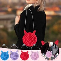 미니 포퍼 푸시 버블 어깨 가방 보드 염료 게임 어린이 성인 딤플 장난감 압력 구호 Fidget 감각 배낭 장난감