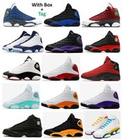13s Rouge Flint Blue Bred Bred Bred Court Basketball Chaussures Hommes 13 Dark Powder Blue Chicago Il a eu un jeu Lakers rivaux Starfish Aurora Green Playground Sneakers