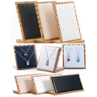 Jewelry Pouches, Bags White Black Gray Beige Small Or Large Bamboo Display Stand Necklace Holder Pendant Chain Bracelet Hanging Organize Boa