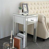 Mobili da camera da letto Nordic Semplice caffè moderno e contemporaneo piccolo cassetto 1 cassetto comodino comodino a specchio