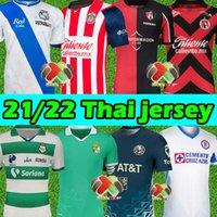 21/22 MX Liga Futebol Jerseys Club América Atlas Puebla Uanl Chivas Cruz Azul Guadalajara Leon Unam Xolos Tijuana 2021 2022 Camisas de futebol