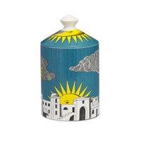 Vintage sol castelo castelo titular com tampa candelabra decoração de casa requintado jarro cerâmico copo jóias artesanato de armazenamento decoração