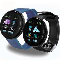 D18 بلوتوث الذكية ووتش الرجال النساء ضغط الدم smartwatch الرياضة تعقب عداد الخطى 116 زائد الساعات الذكية لالروبوت ios a2