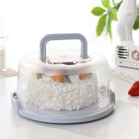 Storage Bottles & Jars Kitchen Supplies Durable Plastic Round Cupcake Container Dessert Cake Box Holder Half Transparent