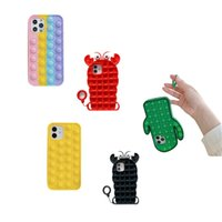 Phone Cases Party Favor Adult Pop Funny Silicone Toys For Iphone 12 11 Pro Max X XS XR 7 Plus 8 Relive Stress Fidget Sensory Toy 2919 Q2