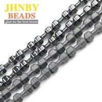 Diğer JHHNBY Dumbbell Halter Şekli Siyah Hematit 15x6mm Doğal Taş Spacer Gevşek Boncuk Takı Bilezikler Için DIY Bulgular Yapmak