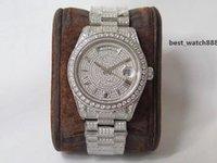 Högkvalitativ Mens Watch 904L Diamond Watch Reloj de Lujo 2836 Rörelse Klockor Vecka Kalender Dubbel Tid Automatisk Montre de Luxe V3 SVD