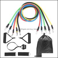 Supplies Sports & Outdoors11Pcs Set Exercises Resistance Bands Set Latex Tubes Pedal Body Home Gym Fitness Training Workout Yoga Elastic Pl